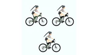 サイクリング六葉ちゃん