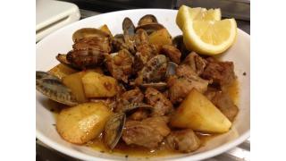 【ポルトガル料理】豚とアサリのアレンテージョ風を作った