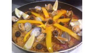 【スペイン料理】パエリアを作った