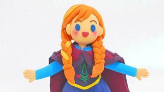 ねんどで「アナと雪の女王」