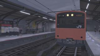 【電車でGO!!】朝のラッシュに降る涙雨。【大阪環状線】