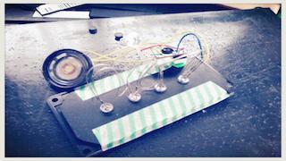 ギターピックアップ交換(LED改造)