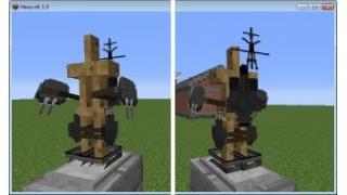 自称中級者のMinecraft日記 防具テクスチャを描いてみよう その2 ダンボール艤装 吹雪モデル