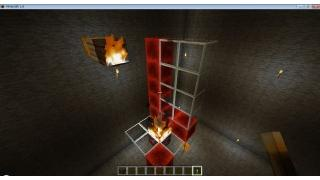 自称中級者のMinecraft日記 番外編7-1 炎ブロック・溶岩による延焼実験
