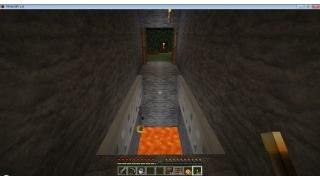 自称中級者のMinecraft日記 part.45 溶岩を使おう(1) 穴倉入口を守る溶岩トラップ