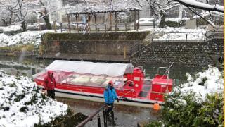 雪景色の松川観光遊覧船に乗ってきたよ!ー動画を追加しました