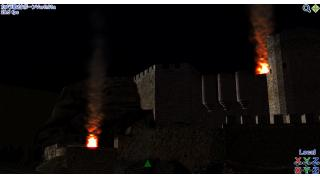 シーン作成(1)砦炎上シーンを作り始める
