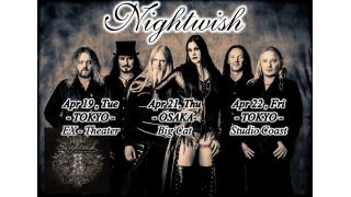 【イベント情報】NIGHTWISH JAPAN TOUR 2016