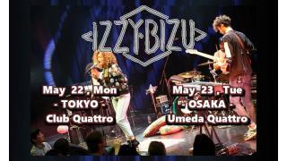 【イベント情報・当日券? 5/22~】IZZY BIZU JAPAN TOUR 2017