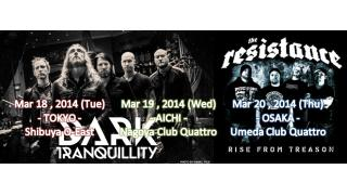 【イベント情報】DARK TRANQUILLITY 『CONSTRUCT TOUR IN JAPAN』