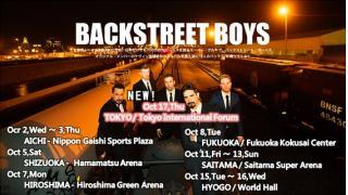 【イベント情報・追記 10/16】BACKSTREET BOYS