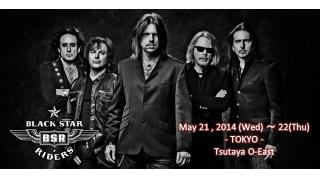 【イベント情報】BLACK STAR RIDERS JAPAN TOUR 2014