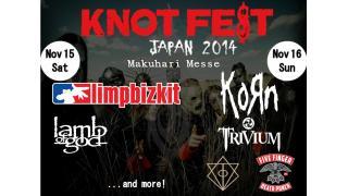 【イベント情報・追記 6/15】KNOT FEST JAPAN 2014