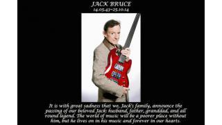 【訃報】JACK BRUCE (ex:CREAM)