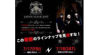 【イベント情報】VENOM.INC JAPAN TOUR 2015