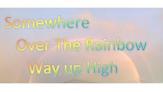 【日記・動画紹介】台風一過で夕空に虹のアーチがかかる