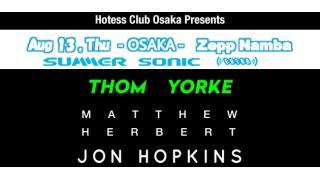 【イベント情報】HOSTESS CLUB ALL-NIGHTER OSAKA (SUMMER SONIC EXTRA SHOW)