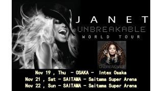 【イベント情報】JANET JACKSON 「UNBREAKABLE」 JAPAN TOUR 2015