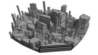 簡単なビル街の作り方【Blenderのチュートリアルをやってみる】