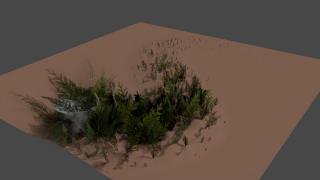 通り道に草を生やす方法【Blenderの便利な機能を超簡単に紹介】