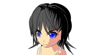 カスタム法線で髪の毛の記号性を変える【3DCG(Blender)で日本のアニメ的な表現をする方法まとめ】