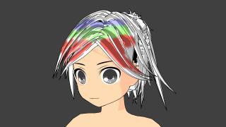 久々に髪の毛作成アドオンを更新しました【自分で作ったBlenderのアドオンを紹介】