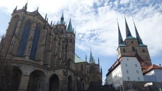 ドイツ観光、エアフルトの2つの教会