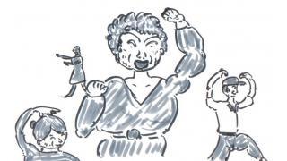 「婆さん達が踊り出す」(創作)(小説)