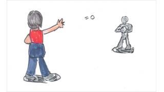 「公園でキャッチボールする親子」(教育)