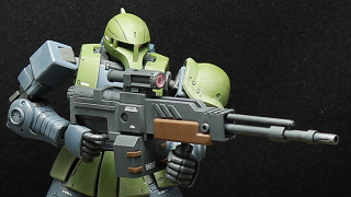 HG MS-05 ザクI + 自作マシンガン