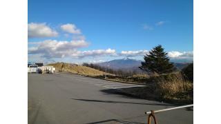 流石に寒くて、自転車が居ない霧ヶ峰