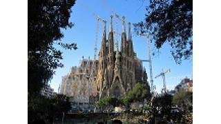 スペインのサグラダファミリア、内部は完成済。