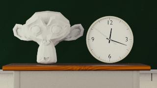 blenderで学校の時計を作ろう(テクスチャ編)