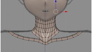 Blenderでモデリング(首)