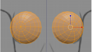 Blenderでモデリング(胸)