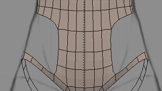 Blenderでモデリング(下半身)