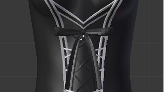 Blenderでモデリング(服2)