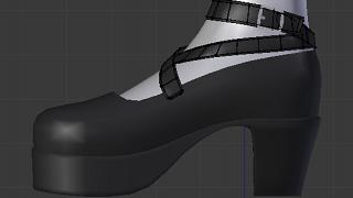 Blenderでモデリング(服5)