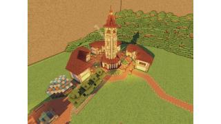 "【Minecraft建築企画】256×256の海と山の街 ""ランシュマ"" 3峰目"