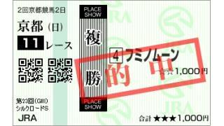 #シルクロードS #根岸S 15番人気 #フミノムーン くん祝!青山Nights的中速報!