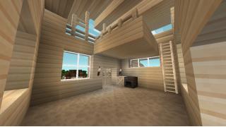 [マイクラ日誌] ロフト、庭着き1軒屋 #minecraft