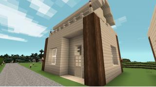 [マイクラ日誌] 1Fの高さは4ブロックが良い #minecraft