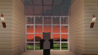 [マイクラ日誌] 夕日と共に #minecraft