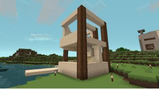 [マイクラ日誌] 漁港を作ろうかと思ったけど #minecraft