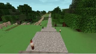[マイクラ日誌] 道は続く #minecraft