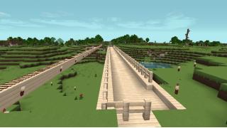 [マイクラ日誌] 橋も作ったりしています #minecraft