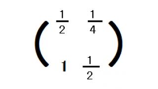 行列を復習してみる5(行列の掛け算と面白い例)