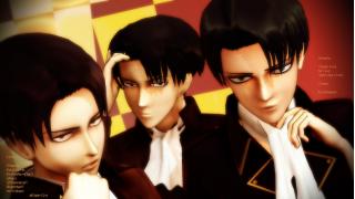 【進撃のMMD】The Levis 兵長団で三人Circus