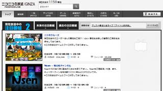 ニコニコ生放送:GINZAのトップページを番組説明文付きにする
