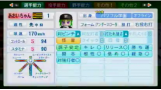 【パワプロ2014】170SA+総変37投手育成